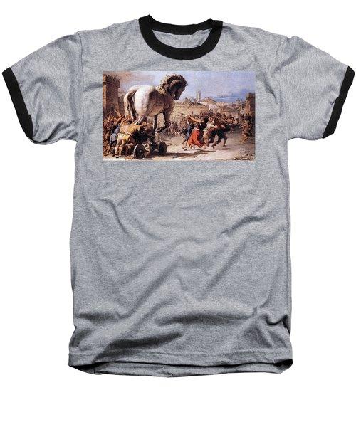Procession Of The Trojan Horse  Baseball T-Shirt