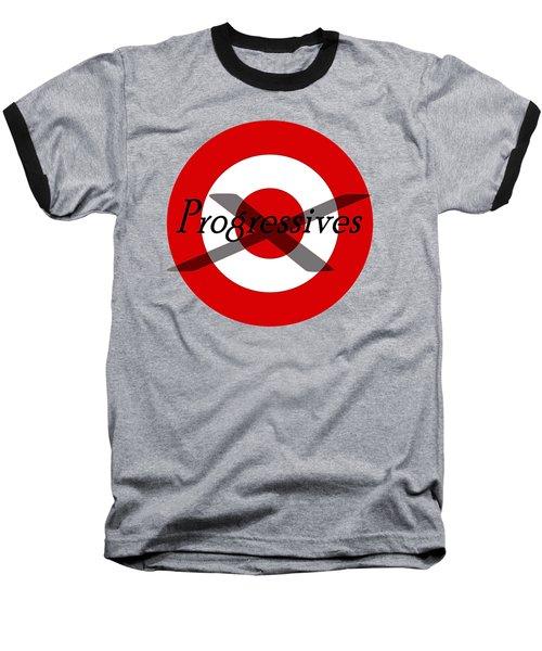 Progressives Baseball T-Shirt by  Newwwman