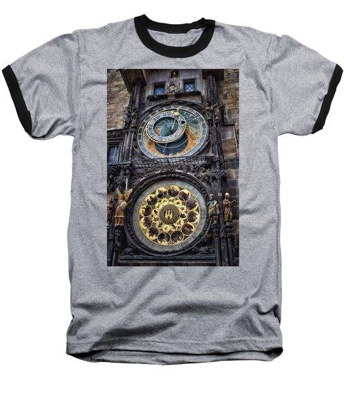 Progue Astronomical Clock Baseball T-Shirt