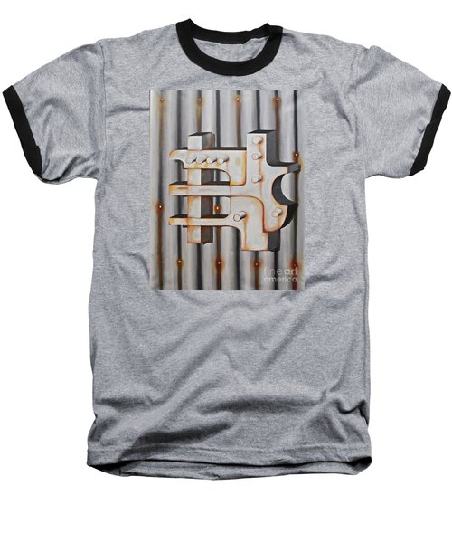 Baseball T-Shirt featuring the painting Project Object Series by John Stuart Webbstock