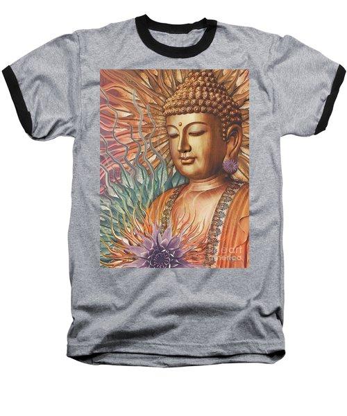 Proliferation Of Peace - Buddha Art By Christopher Beikmann Baseball T-Shirt