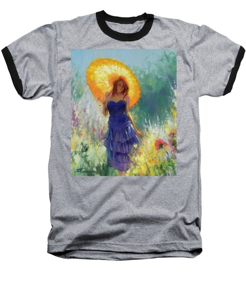 Baseball T-Shirt featuring the painting Promenade by Steve Henderson