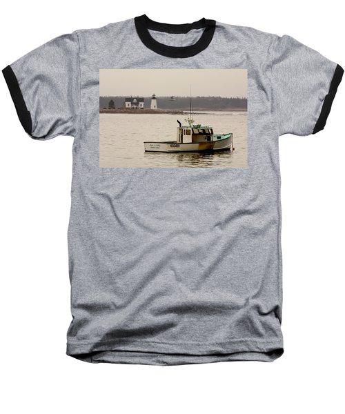 Prospect Harbor Lighthouse Baseball T-Shirt