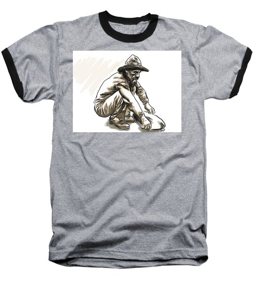 Baseball T-Shirt featuring the drawing Prospector by Antonio Romero