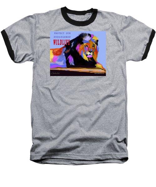 Protect Our Endangered Wildlife Baseball T-Shirt