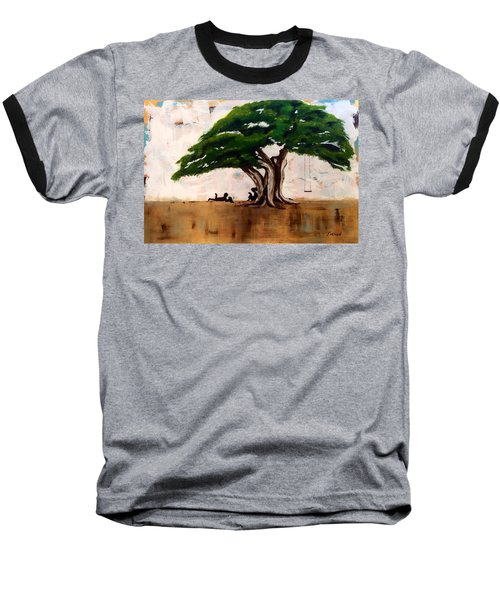 Baseball T-Shirt featuring the painting Protected by Patti Ferron