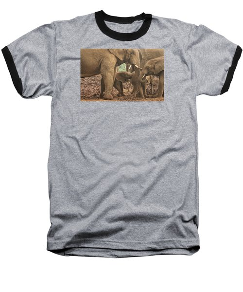 Baseball T-Shirt featuring the photograph Protecting The Babies by Gary Hall