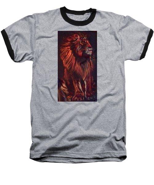 Proud King Baseball T-Shirt by Ellen Canfield