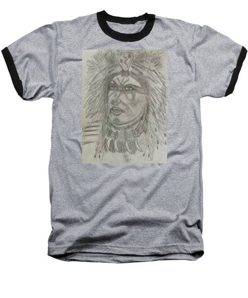 Baseball T-Shirt featuring the drawing Proud Nation by Sharyn Winters