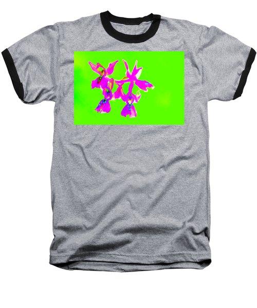 Green Provence Orchid  Baseball T-Shirt