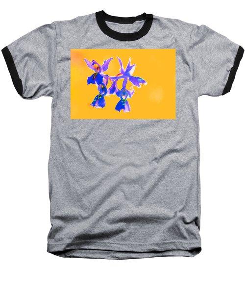 Orange Provence Orchid  Baseball T-Shirt by Richard Patmore