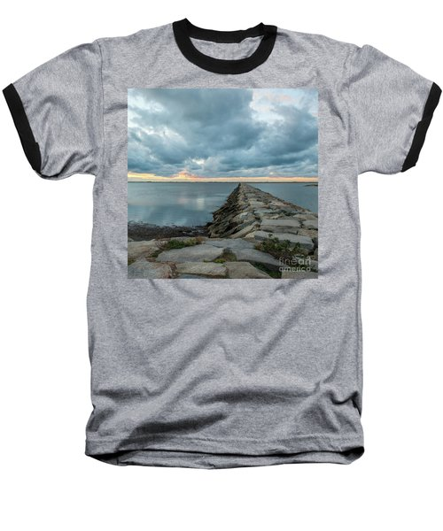 Provincetown Breakwater #3 Baseball T-Shirt