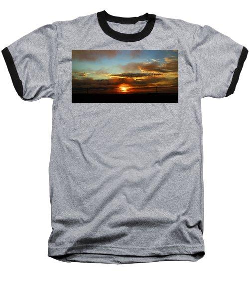 Prudhoe Bay Sunset Baseball T-Shirt by Anthony Jones