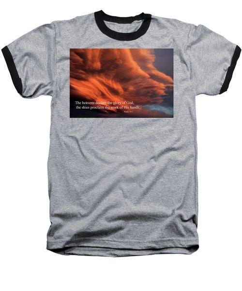 Psalm 19-1 Baseball T-Shirt