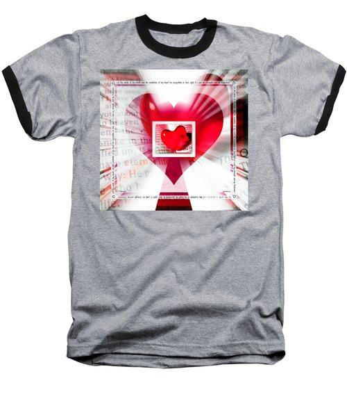 Psalm 19 Meditating Baseball T-Shirt