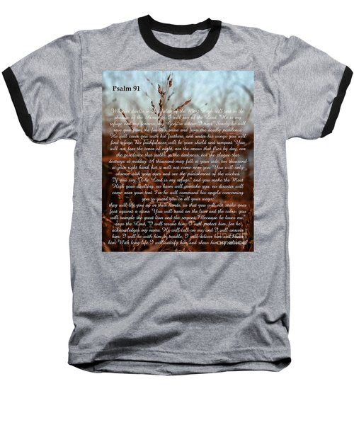 Psalm 91 Baseball T-Shirt