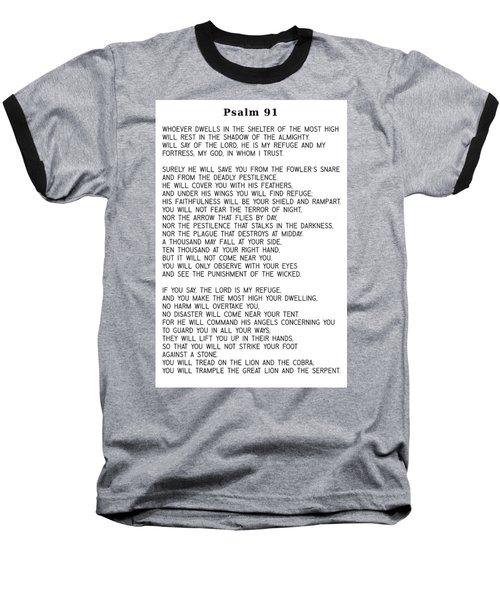 Psalm 91 #minimalism Baseball T-Shirt