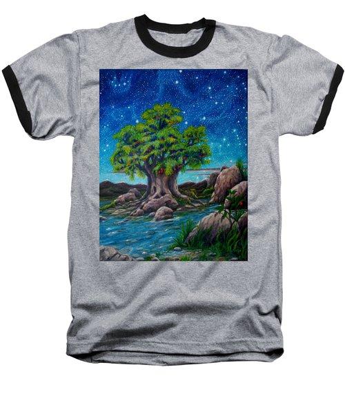 Psalm One Baseball T-Shirt by Matt Konar