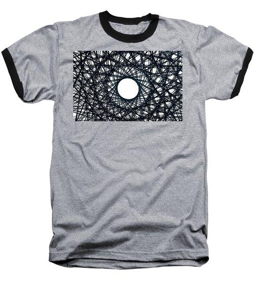 Psychedelic Concentric Circle Baseball T-Shirt
