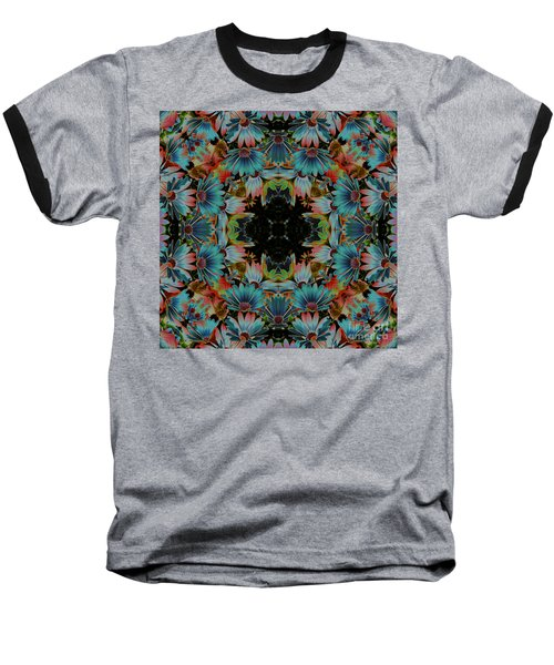 Baseball T-Shirt featuring the digital art Psychedelic Daisies by Smilin Eyes  Treasures