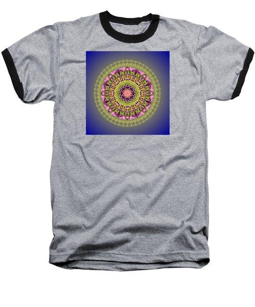 Psychedelic Mandala 001 A Baseball T-Shirt