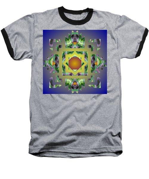 Psychedelic Mandala 002 A Baseball T-Shirt
