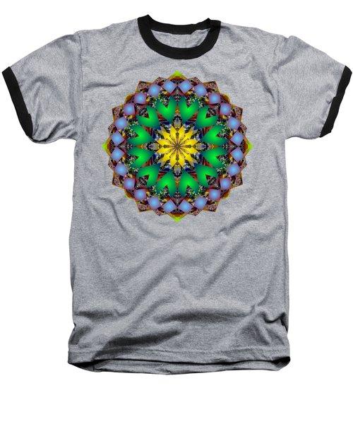 Psychedelic Mandala 003 A Baseball T-Shirt