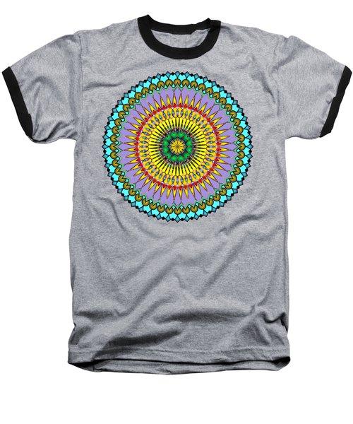 Psychedelic Mandala 005 A Baseball T-Shirt