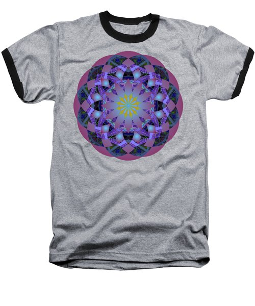 Psychedelic Mandala 006 A Baseball T-Shirt