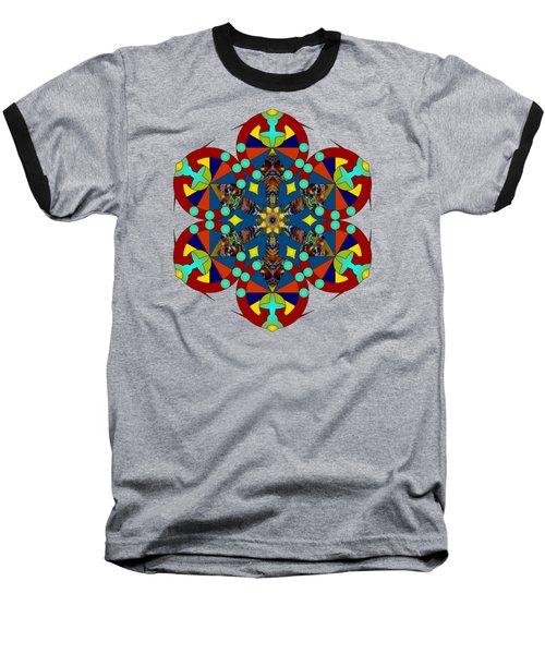 Psychedelic Mandala 007 A Baseball T-Shirt