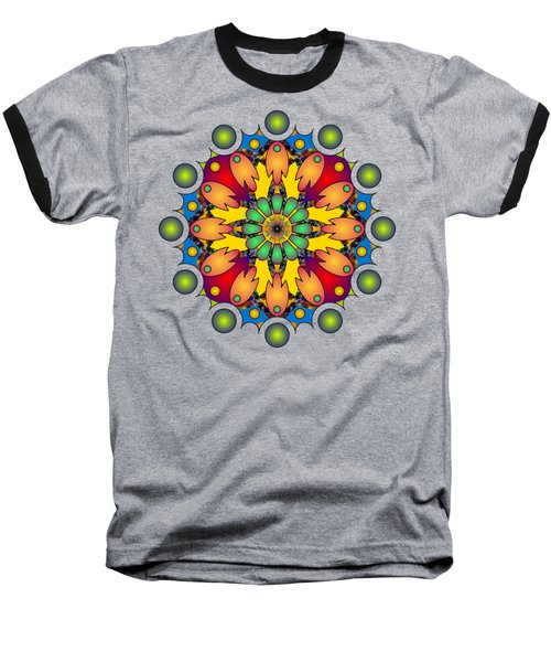 Psychedelic Mandala 009 A Baseball T-Shirt
