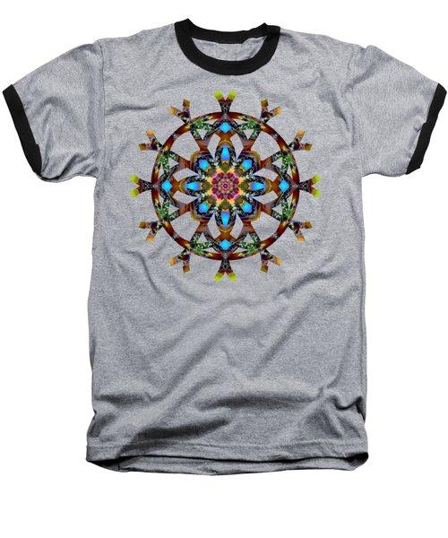 Psychedelic Mandala 010 A Baseball T-Shirt