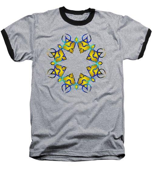 Psychedelic Mandala 011 A Baseball T-Shirt