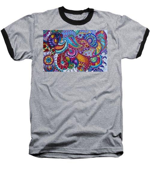 Psychedelic Paisley Baseball T-Shirt