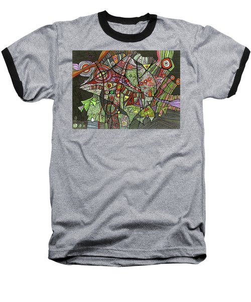 Psychedelic Sea Creature Baseball T-Shirt