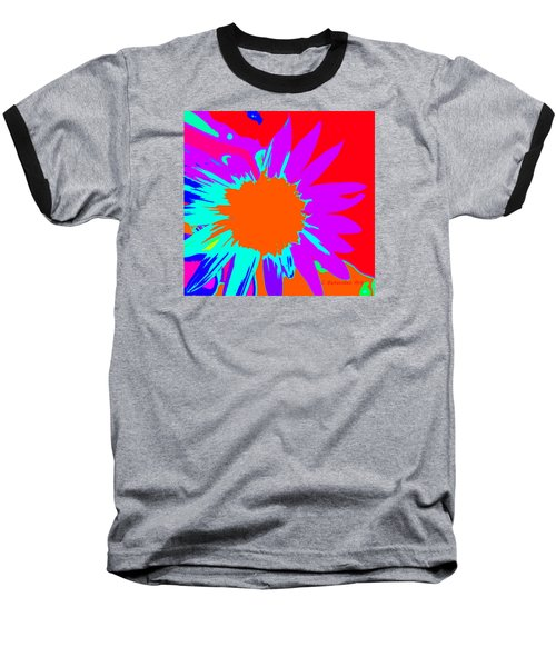 Psychedelic Sunflower Baseball T-Shirt