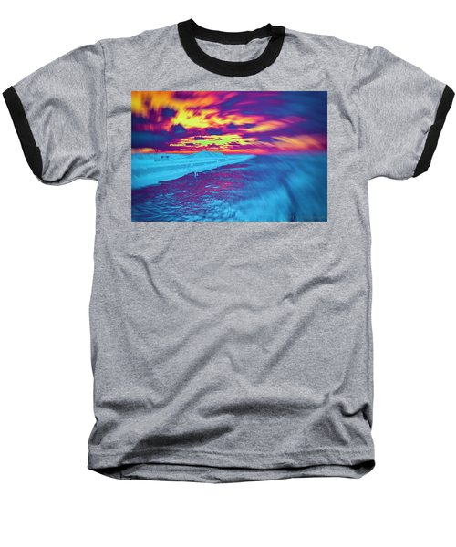 Psychedelic Sunset Baseball T-Shirt