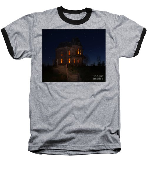 Psycho House-bates Motel Baseball T-Shirt by Jim  Hatch