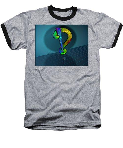 Psychedelic Interrobang Baseball T-Shirt