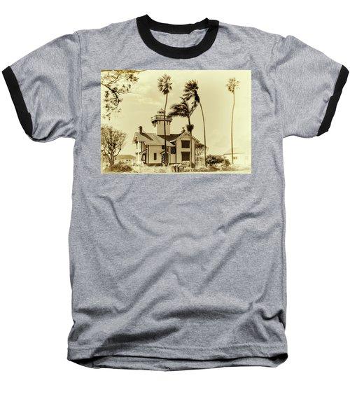 Pt. Fermin Lighthouse Baseball T-Shirt by Joseph Hollingsworth