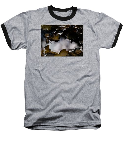 Puddle Of Leaves Baseball T-Shirt