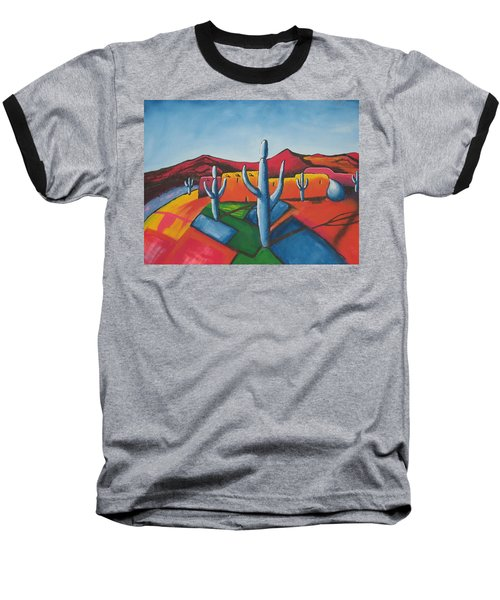 Baseball T-Shirt featuring the painting Pueblo by Antonio Romero