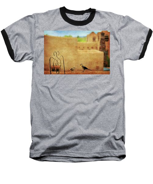 Baseball T-Shirt featuring the photograph Pueblo Village Settlers by Diana Angstadt
