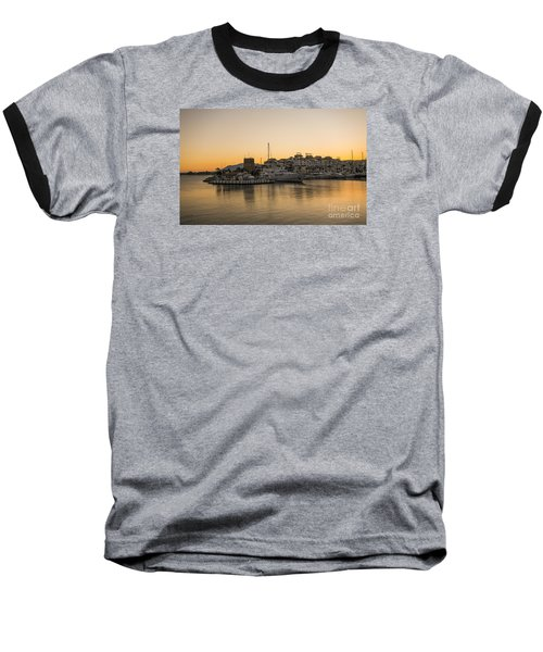 Puerto Banus In Marbella At Sunset. Baseball T-Shirt by Perry Van Munster