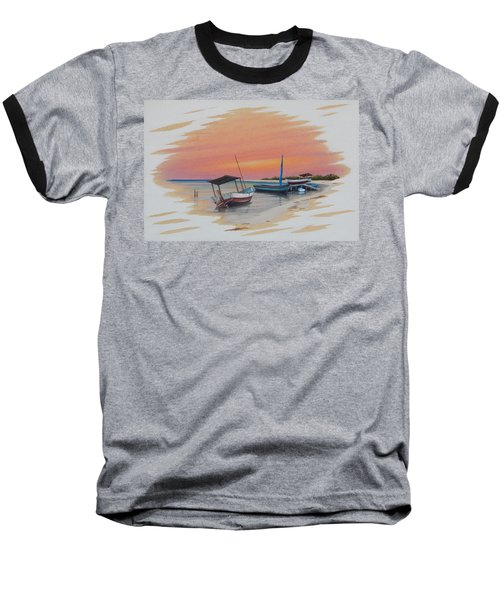 Puerto Progreso V Baseball T-Shirt by Angel Ortiz