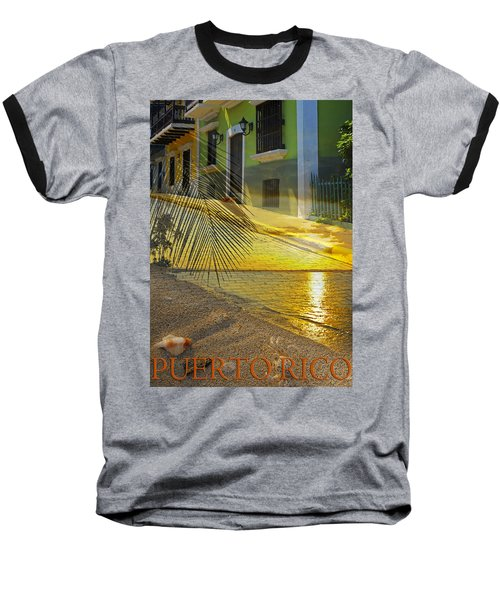 Puerto Rico Collage 3 Baseball T-Shirt by Stephen Anderson
