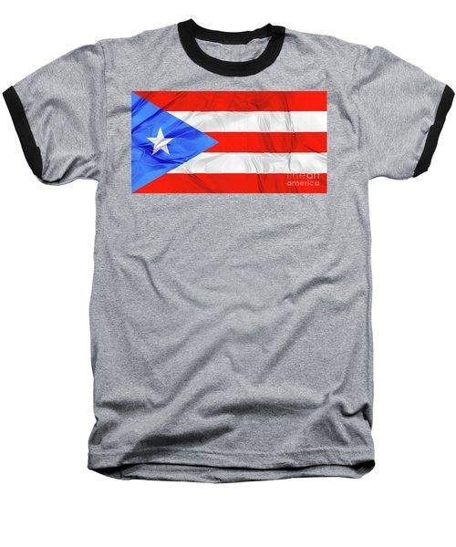 Puerto Rico Flag Baseball T-Shirt