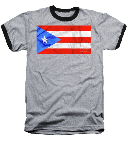 Puerto Rico Flag Baseball T-Shirt