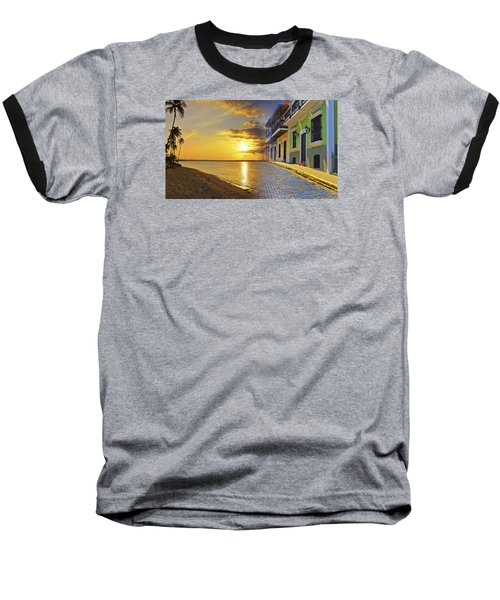 Puerto Rico Montage 1 Baseball T-Shirt by Stephen Anderson