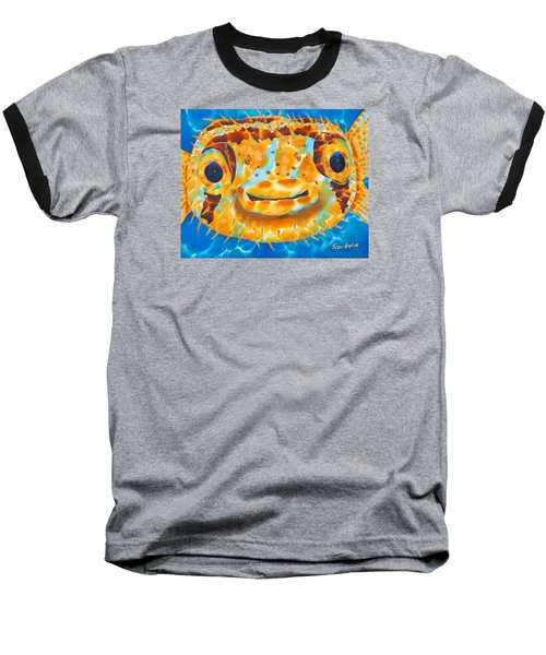 Puffer Fish Baseball T-Shirt